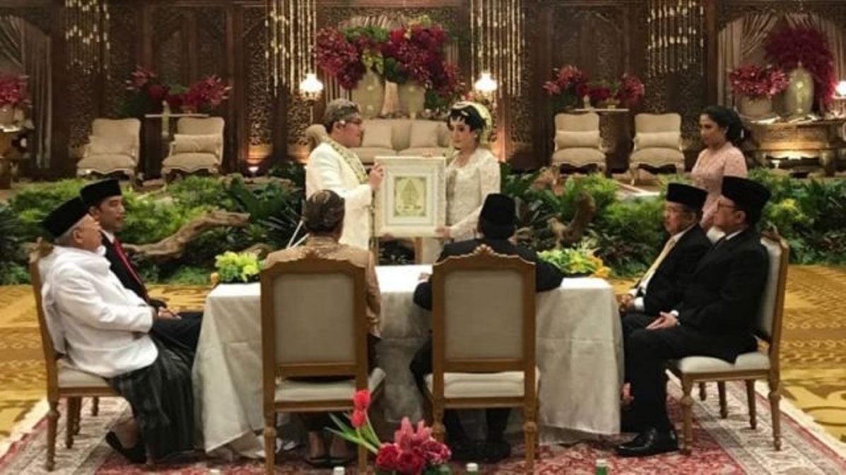 RI Satu Jadi Saksi Pernikahan Anak BG dan Buwas. Sempat Mati Lampu?