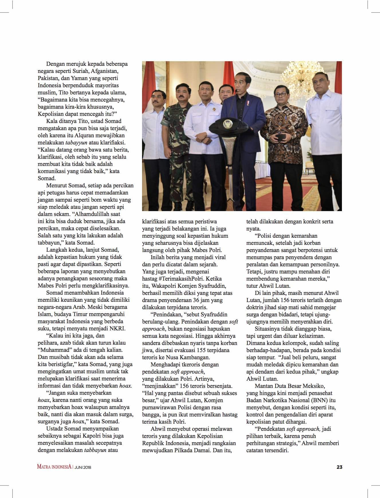 Majalah MATRA Masuk Dalam 10 Media Pemenang Anugerah Jurnalistik Polri