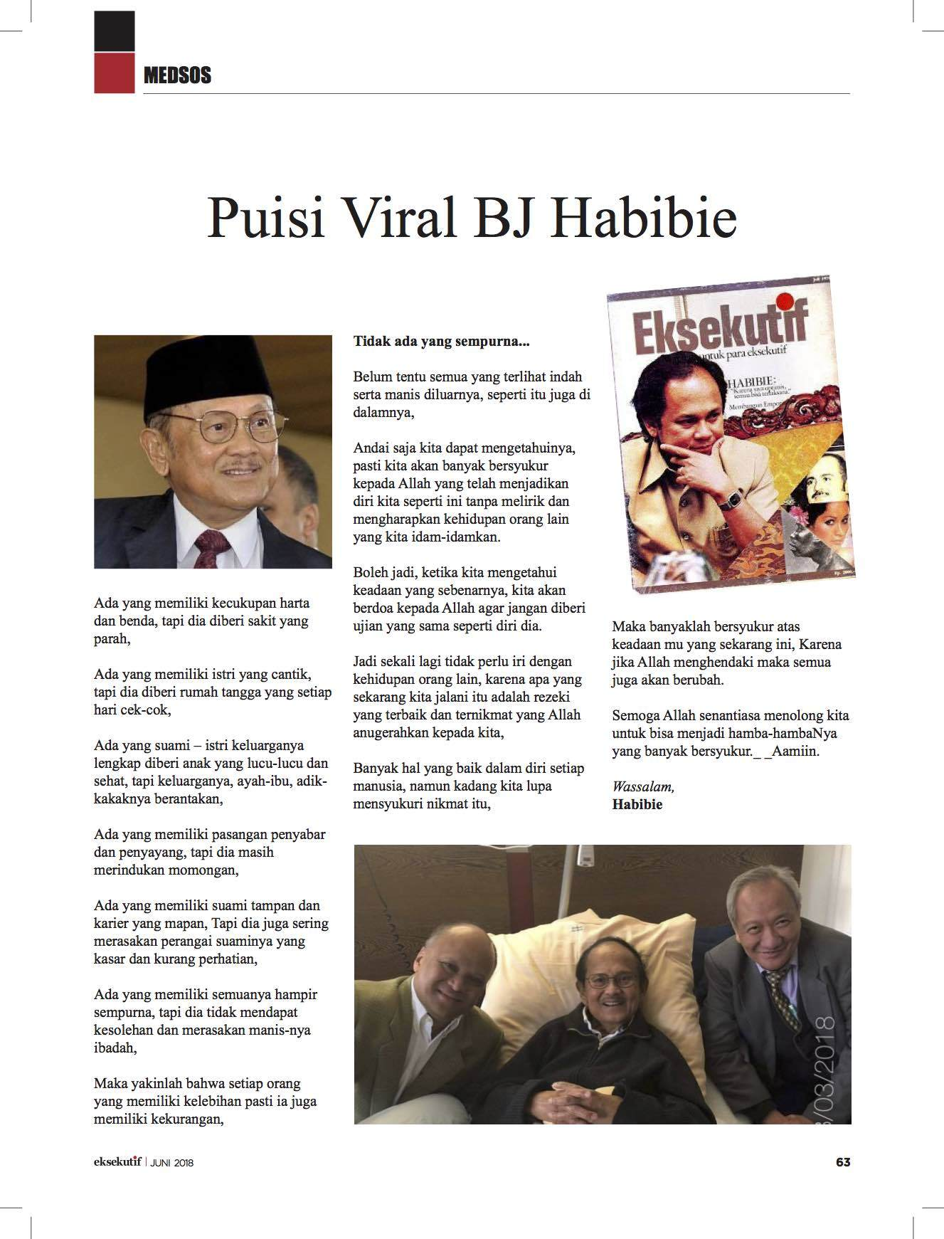 Presiden Jokowi Kembali Jenguk Habibie di RSPAD Senin Ini