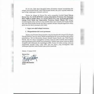 Dewan Pers Jawab Surat Terbuka Yang Memprotes Jurnalis Menjadi Timses