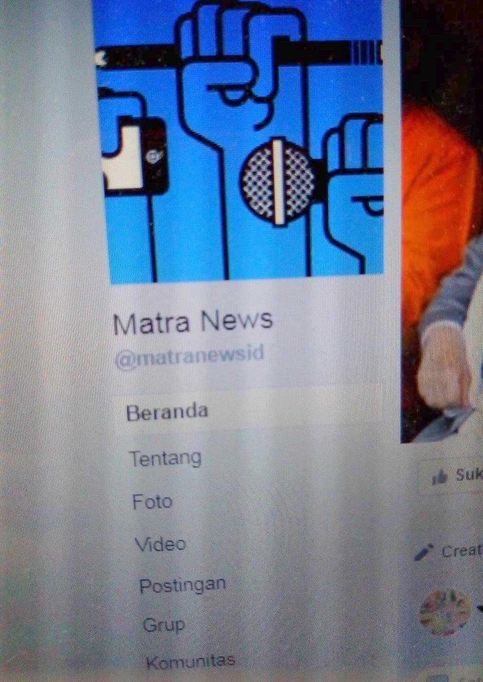 Akun Buzzer FB Matra News tak ada hubungannya dengan Majalah MATRA dan MATRANEWS.id