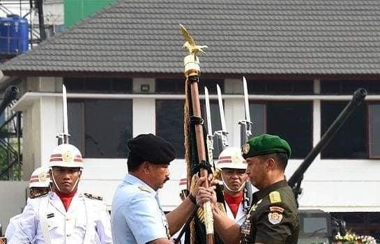 Tongkat Komando Angkatan Darat di Jenderal Andika Perkasa