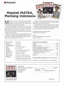 Mediakit Matra 2018