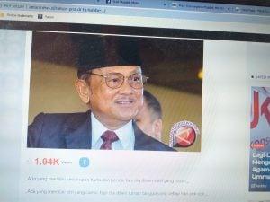 Puisi Habibie di AntaraNews.id Menjadi Viral.