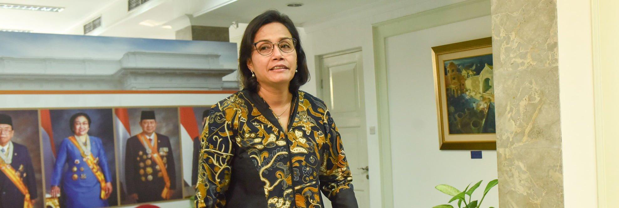Ekspresi Sri Mulyani Indrawati, Menteri Keuangan