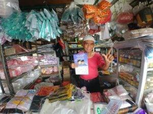 Relawan MPI Lakukan Gerakan Rabu Biru ke Pasar Tradisional.