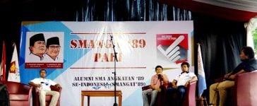 Para Alumni SMA Ramaikan Diskusi Dan Nobar Relawan Smangat89