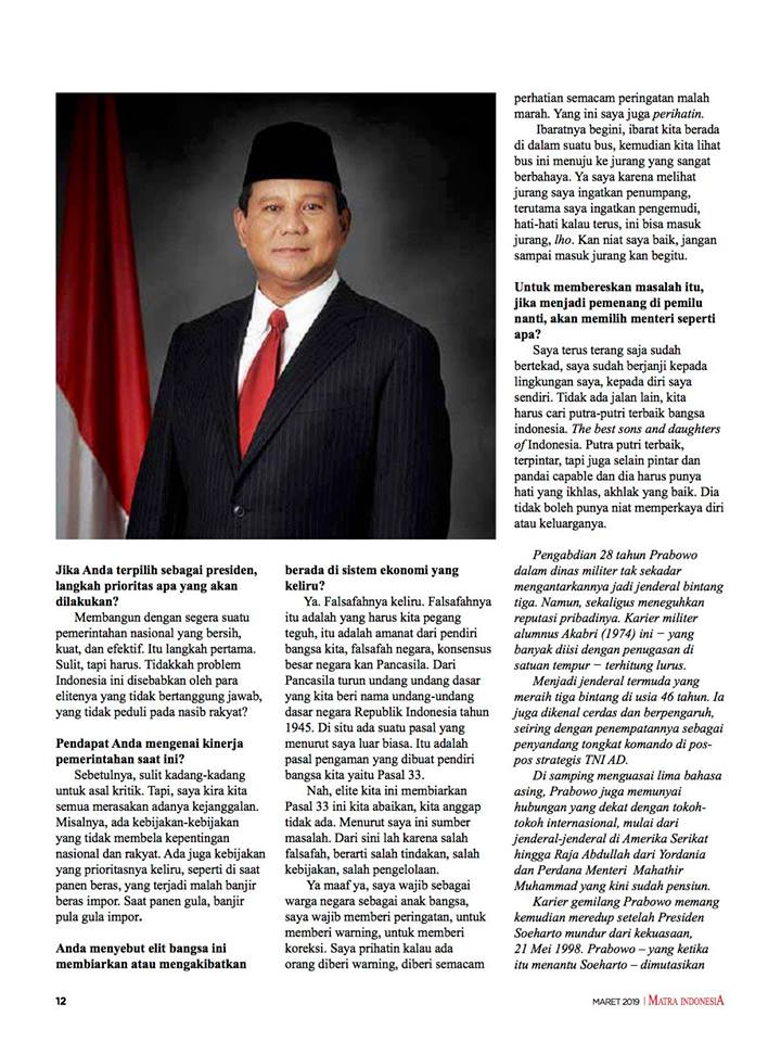 BPN Prabowo Tantang AM Hendropriyono