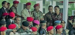 Jokowi & Jusuf Kalla Absen, Prabowo Hadiri Perayaan HUT ke-67 Kopassus