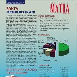 Majalah Socialpreneur Dengan Backlink-nya, MATRA (Majalah Tren Pria)