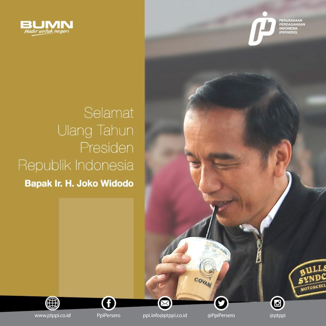 Ragam Ucapan Ke Presiden Jokowi, Termasuk Dari Pelbagai BUMN.