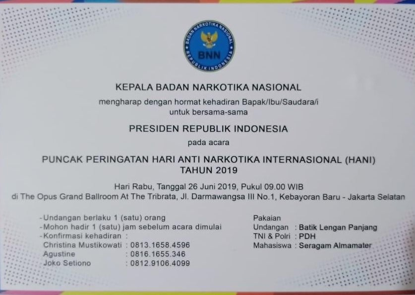 Asosiasi Media Digital Indonesia (AMDI) Dorong Hari Anti Narkoba, 26 Juni Jangan Hanya Seremonial Saja.