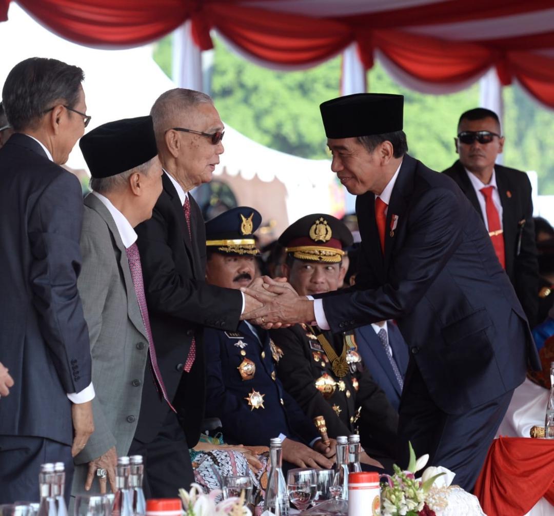 "Presiden Jokowi: ""Kondisi Yang Kondusif Juga Berkat Kerja Sama Yang Baik Antara Polri dengan TNI."""