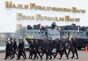 Pasukan Keamanan, Antisipasi Serangan Drone & Rudal ke Gedung MPR Serta Istana Negara.