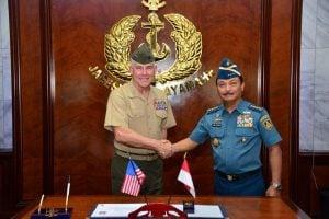 KSAL Terima Kunjungan Kehormatan US Marine