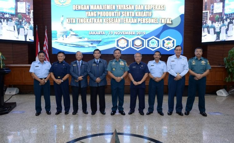 KASAL Minum Kopi Bersama Pengurus Yayasan & Koperasi TNI AL