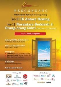 Peluncuran Buku #sayabelajarhidup, Karya S Dian Andryanto