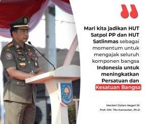 Tito Karnavian: ''Satpol PP dan Linmas Harus Dirasakan Kehadirannya di Masyarakat, Profesional dan Berguna''