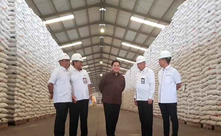 Menteri BUMN Pastikan Bulog Mampu Penuhi Kebutuhan Stok Beras