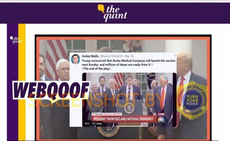 Salah: Donald Trump Akan Umumkan Roche Medical Company, Soal Vaksin Covid19 Jutaan Dosis