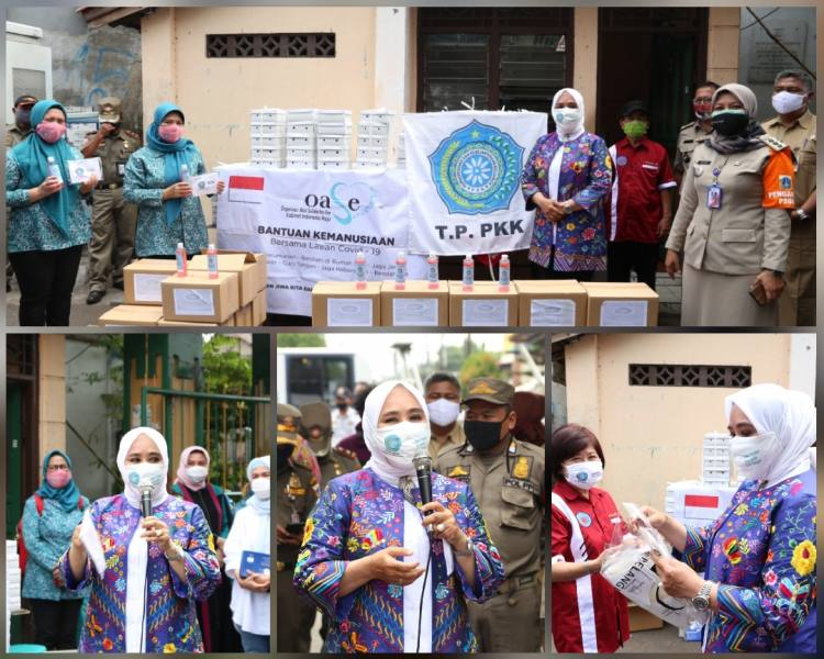 Sosialisasi Masif Penggunaan Masker Ketua Umum Tim Penggerak PKK Pusat