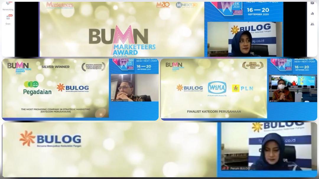 Bulog Raih Empat Penghargaan BUMN Marketeers Award 2020