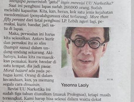 Anang Iskandar Tanggapi Pernyataan Menteri Yasonna Laoly