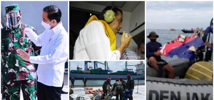 Kasal Dampingi Presiden RI Tinjau Posko SAR Sriwijaya Air