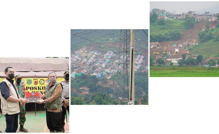 Hadi Prabowo (Rektor IPDN) Tinjau Situasi Terkini TKP Bencana Longsor