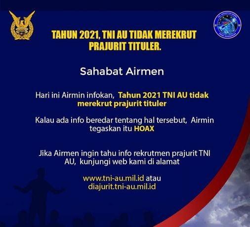 Rekrutmen Perwira dan Bintara TNI AU?