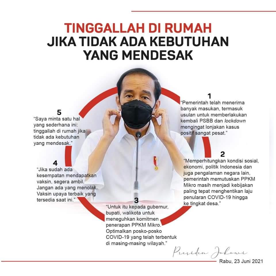 Jokowi: TNI-Polri Sukseskan Dua Juta Vaksinasi