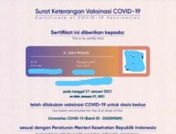 Sertifikat Vaksin Jokowi Bocor, Berimbas Apa?